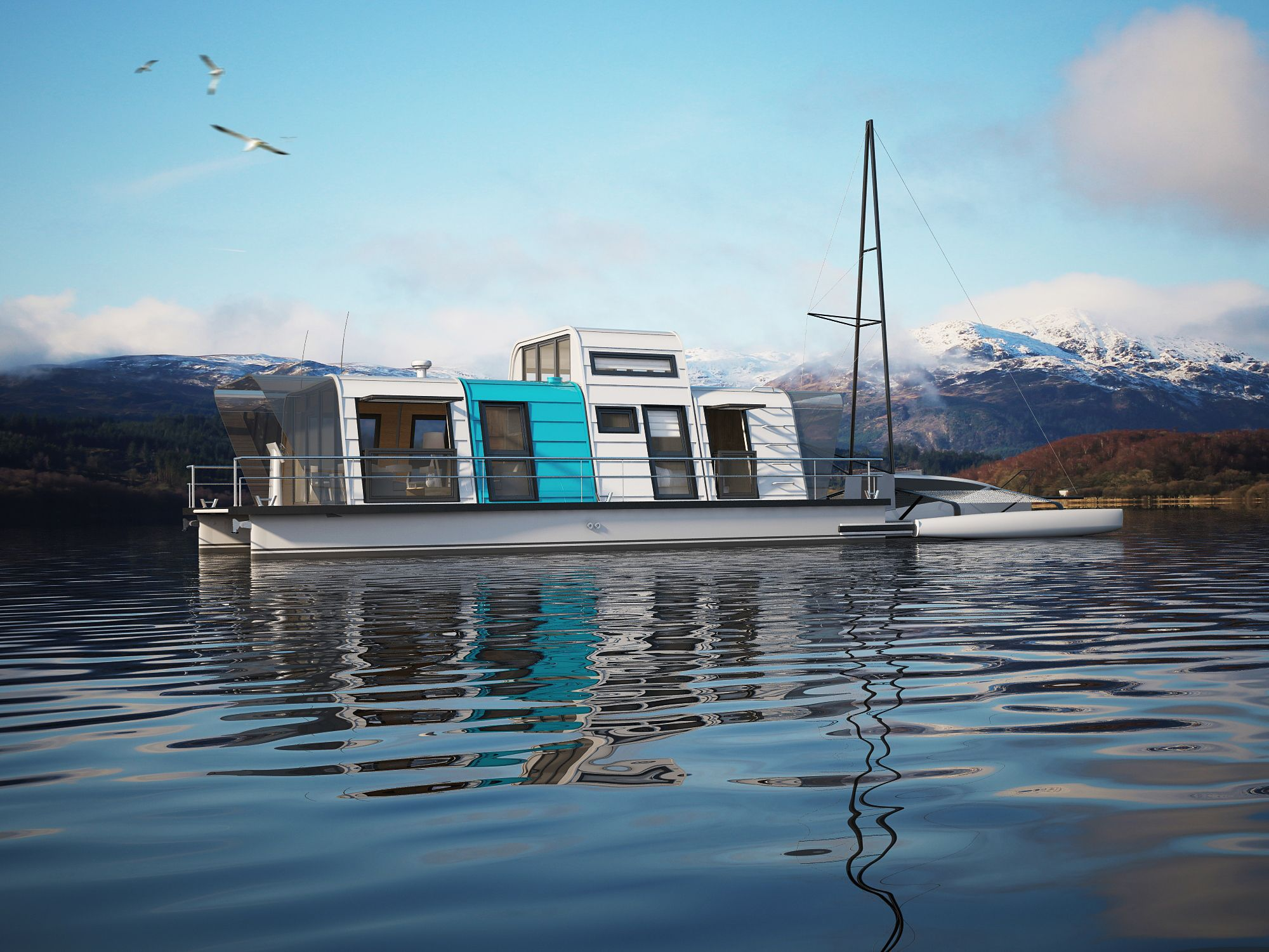 prefab houseboats exist so you can live out your sleepless in seattle dreams water prefab. Black Bedroom Furniture Sets. Home Design Ideas