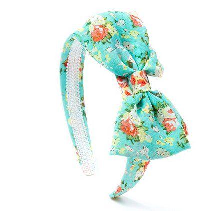 Floral Print Headband with Bow  29f5967b5fd