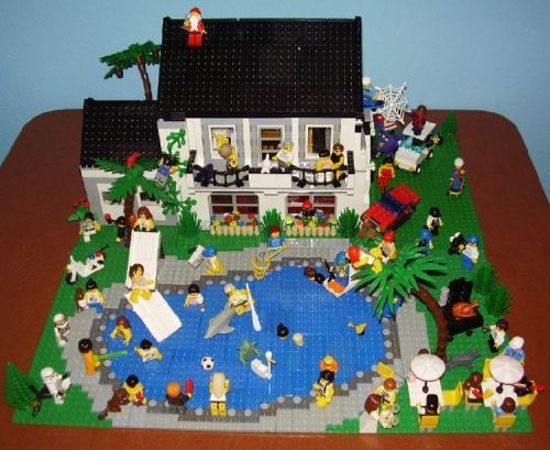 Pool party a lego creation by paul cantu for Piscine playmobil