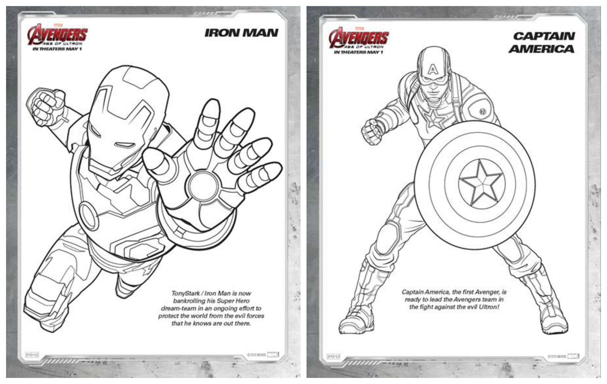 Marvel S Avengers Age Of Ultron Coloring Sheets Avengersevent