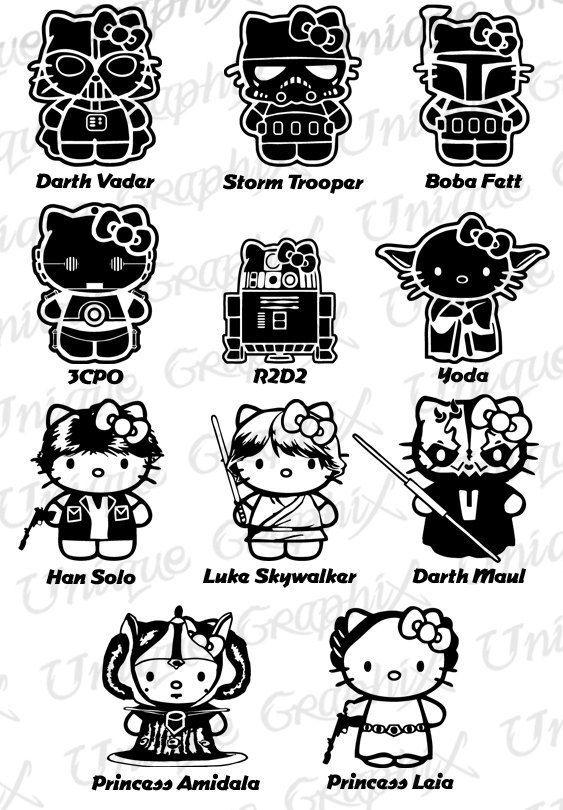 76b51e4d6d black and white star wars hello kitty - Google Search