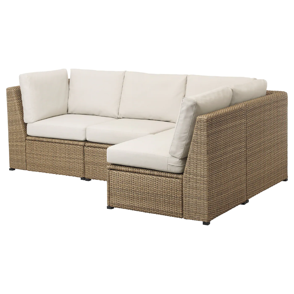 Solleron Modular Corner Sofa 3 Seat Outdoor Brown Froson Duvholmen Beige Ikea Canada Ikea In 2020 Modular Corner Sofa Outdoor Lounge Furniture Corner Sofa