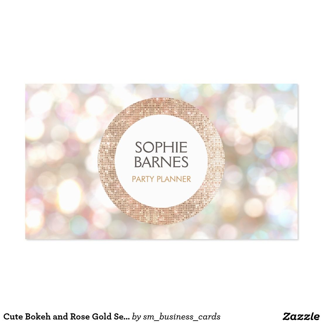 Cute Bokeh and Rose Gold Sequin Event Planner 2 Pack Of Standard ...