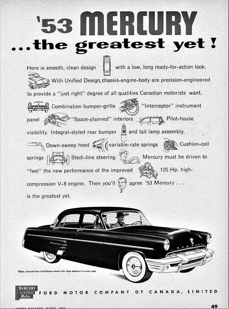 1953 Mercury Monterey 4 Door Sedan Canada