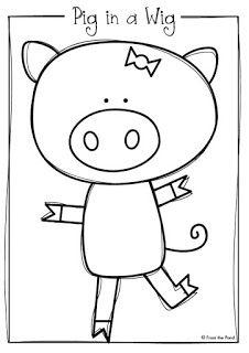 Pig in a Wig Printable Reader + Freebie