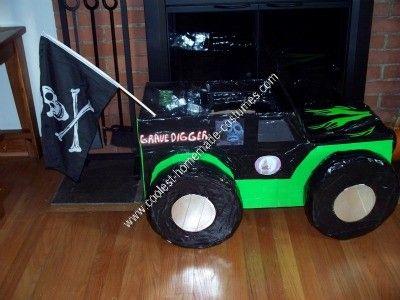Coolest Homemade Grave Digger Monster Truck Halloween Costume ...