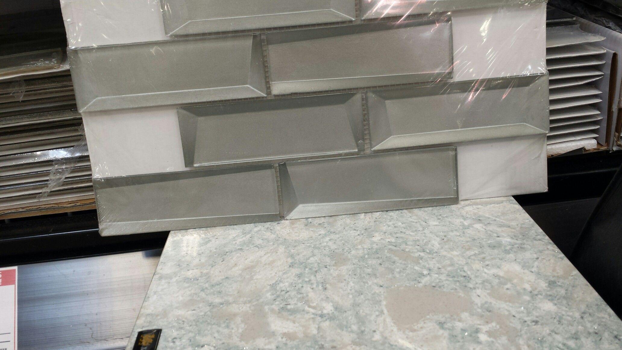 - Tile - Broadway Silver Brick With Cambria Montgomery Quartz