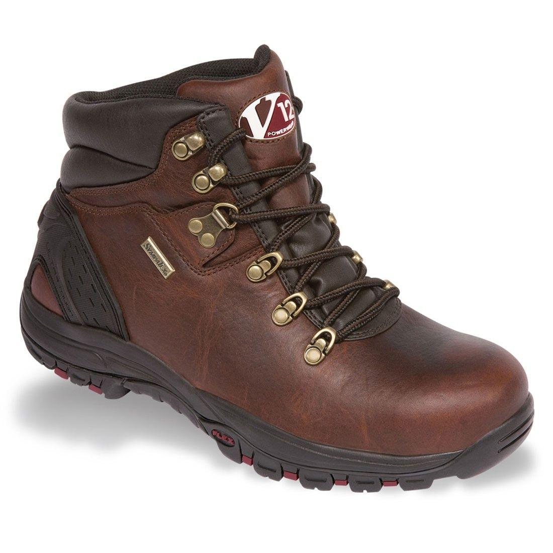 V12 Footwear Storm Premium Vintage Brown Leather S3