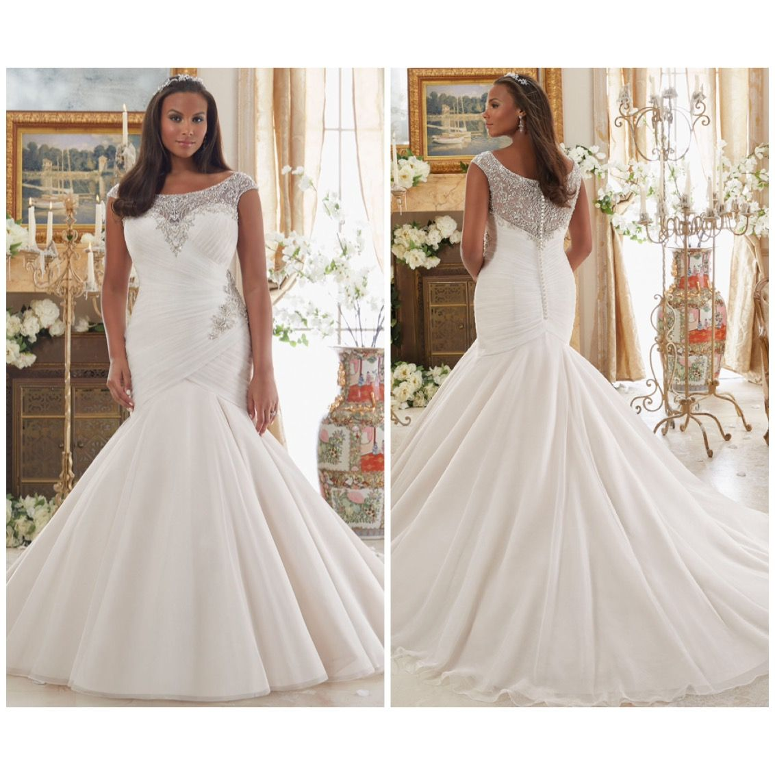Plus size wedding dress designers  Mori Lee  Size W in store  Plus Size Wedding Gowns All