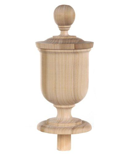 Beautiful Interior Staircase Ideas And Newel Post Designs: Staircase Finial Newel Post Cap FN-0106, Poplar Wood (9 1
