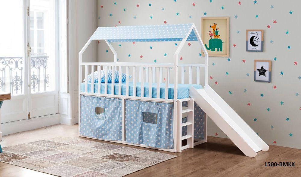 Montessori Kaydirakli Yatak Mavi 1500 Bmkk Genc Odalari