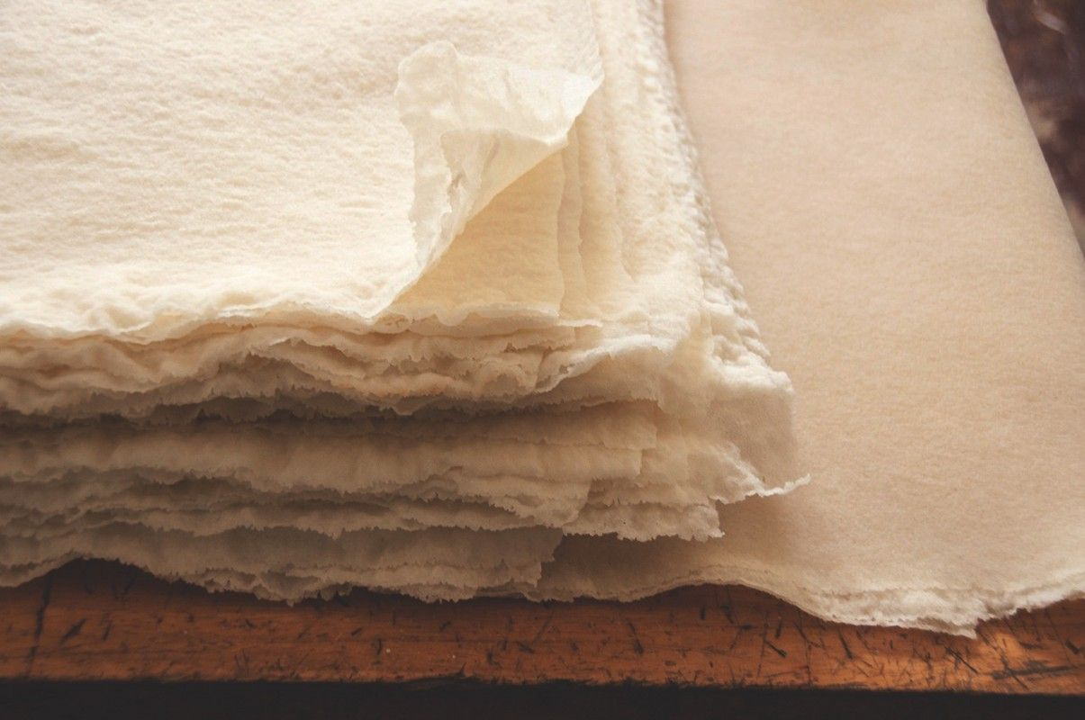 Sheets of our natural Fair Rubber Association (FRA) and FSC rubber | ALICE + WHITTLES.
