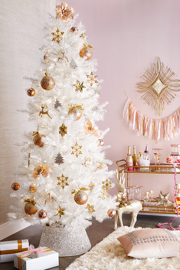 Champagne Shimmer Christmas Tree 7 5 Colorful Christmas Tree White Christmas Tree White Christmas Trees