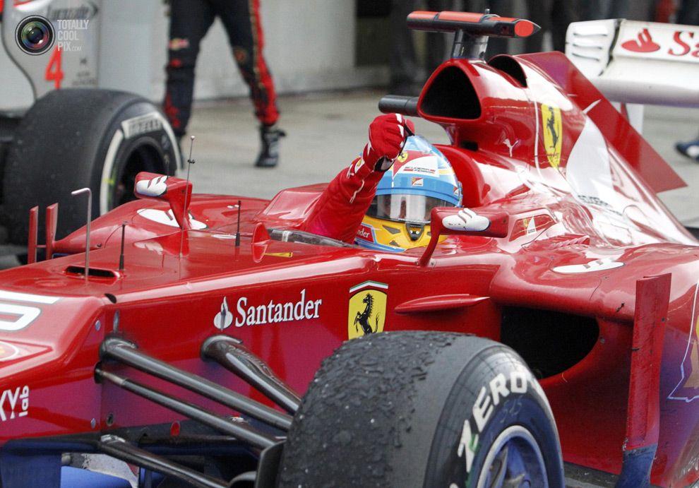 Ferrari Formula One driver Fernando Alonso Malaysian F1 Grand Prix winner   Malaysian grand prix ...