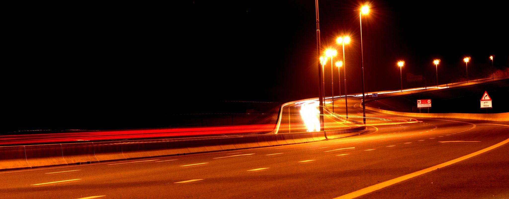 Maleha road Dubai - Sharjah Highway  Light trail Photography