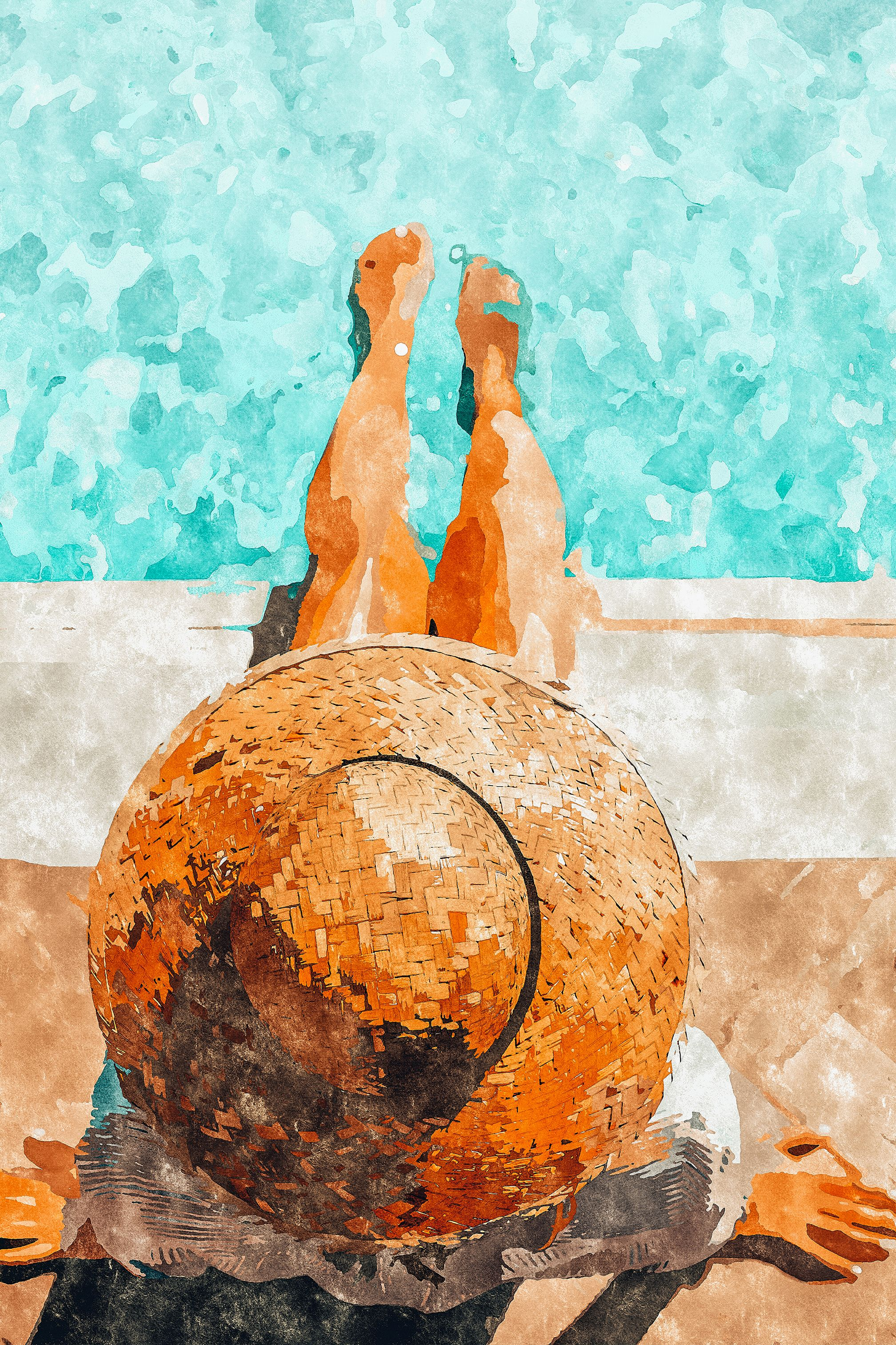 By The Pool All Day Art Print By 83 Oranges At Society6