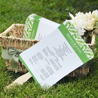 Diy wedding program fans kit with design template program fans our diy designer wedding fan program paper kits have everything you need to create custom wedding program fans solutioingenieria Image collections