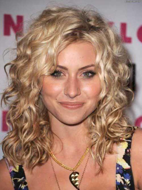 cute curly layered hair pinteres
