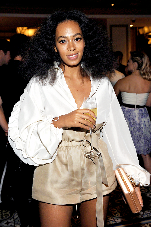 5147517475 Solange Knowles attends the CFDA Vogue Fashion Fund Dinner at Bouchon  Beverly Hills on October 20