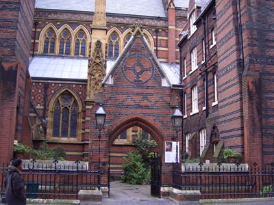 Architecture All Saints Church London By William Butterfield Gothic Revival With Patterned Surfaces And Bold Details