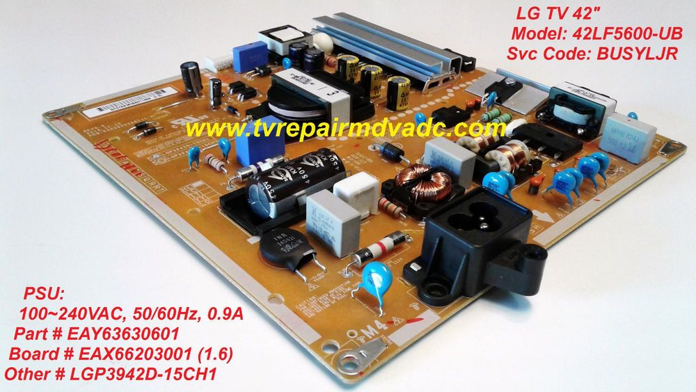 Lg Psu Eay63630601 Eax66203001 1 6 Tested 100 Operational Lg Power Supply Power The 100