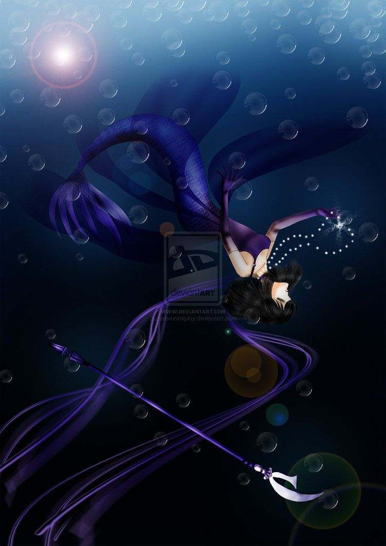 Princess Saturn mermaid dive into the silence by anemoneploy on deviantART