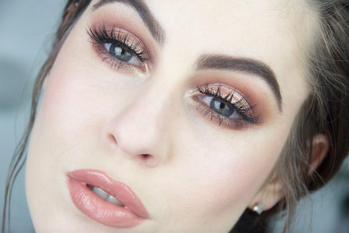 spring make up idea for summer 2016! fair skin, blue eyes