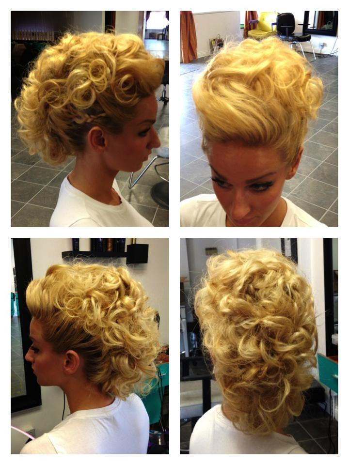 #calliemilton #glam #chic #updo #elegant #oribe #oribehair #oribehaircare #hair #ksera #bride #wedding #mohawk #badass