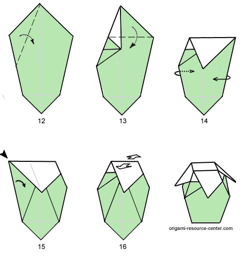 This Origami Paper Vase Looks Like It Has Many Steps But Technically