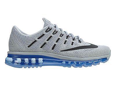 590e90805852a Nike Air Max 2016 Mens 806771-004 Wolf Grey Mesh Racer Blue Running Shoes  Sz 12