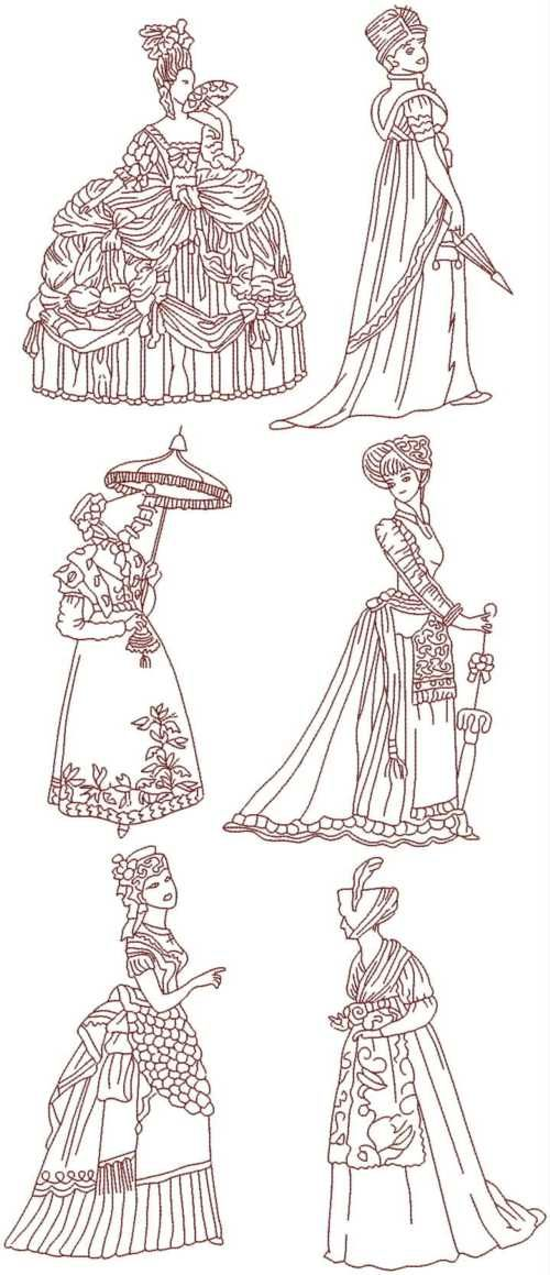 Advanced embroidery designs fashionable ladies of the