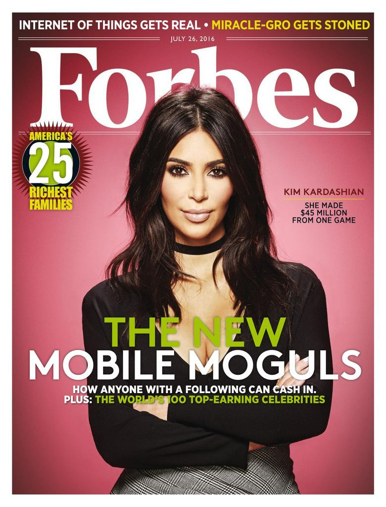 Forbes Back Issue July 26 2016 Digital In 2021 Forbes Cover Forbes Magazine Cover Kim Kardashian