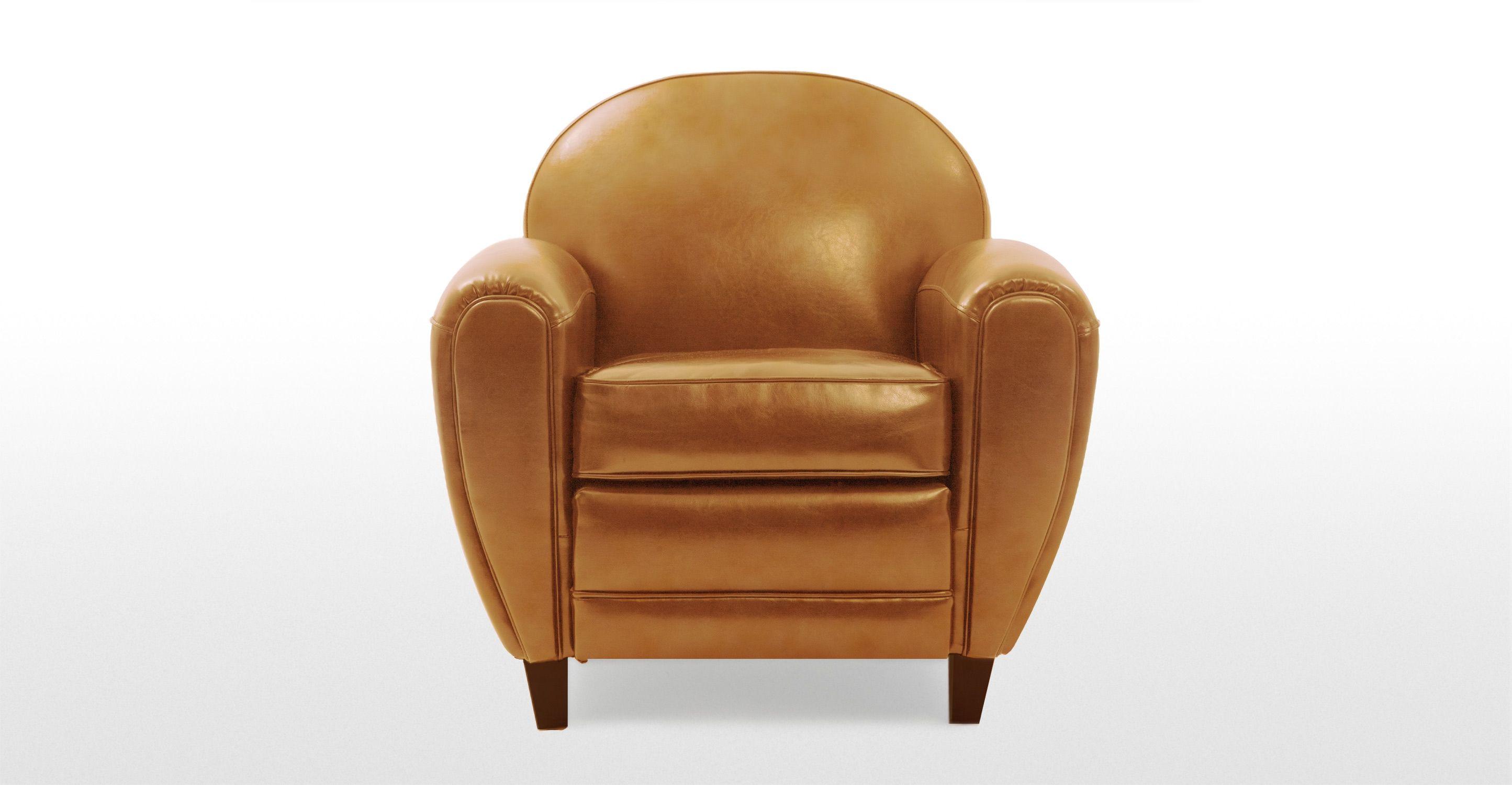 Jazz club chair cognac made com