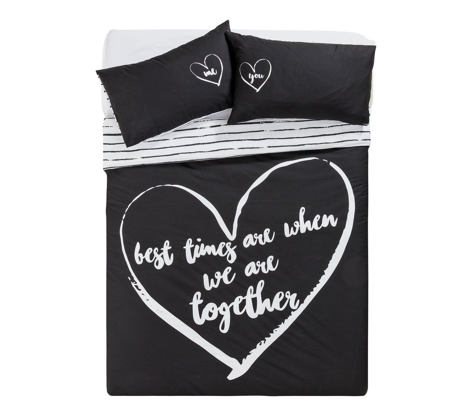 Home Love Therapy Black Bedding Set Double At Argos Co Uk