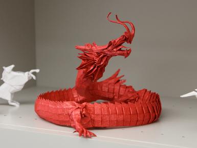 Modular Origami Dragon