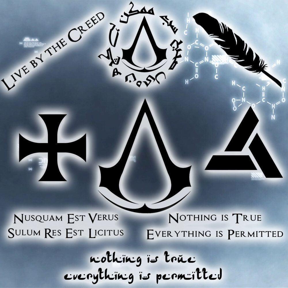 Assassin's Creed Decals / Abstergo / Templar / Nothing is