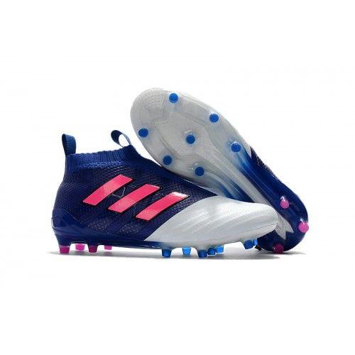28358fc386 Adidas ACE - Chuteira Adidas ACE 17 PureControl FG Azul Branco Rosa ...