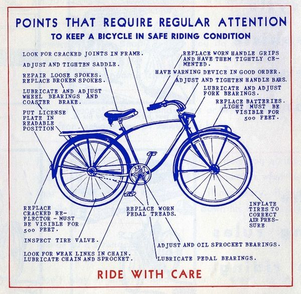 A Vintage Illustrated Guide From 1969, On Safe Bicycle Riding