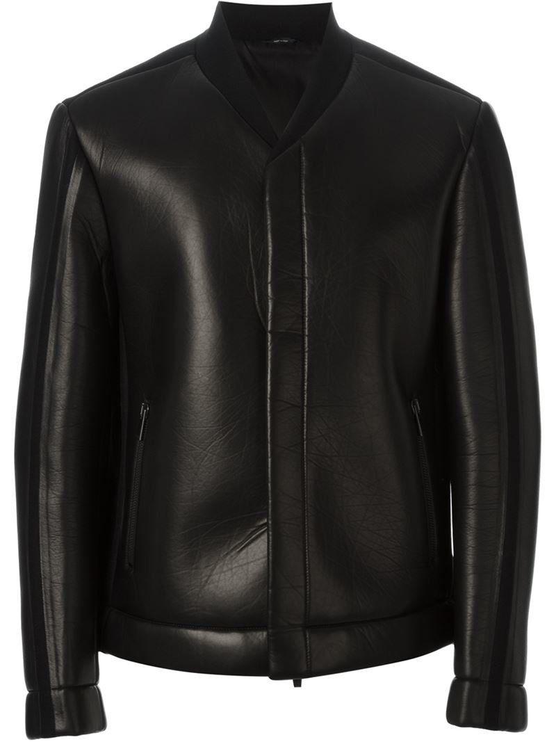 08aff14a Fendi Knit Leather Bomber Jacket $3480 | Rich Fashion Advisory ...