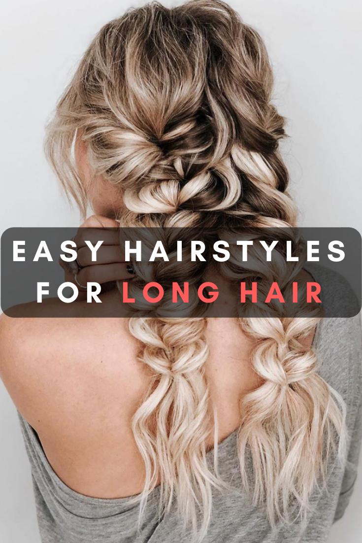 50 Easy Hairstyles For Long Hair To Copy In 2020 Easy Hairstyles Long Hair Styles Pin Straight Hair