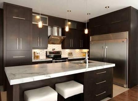 Resultado de imagen para cocinas integrales modernas color chocolate - cocinas integrales modernas