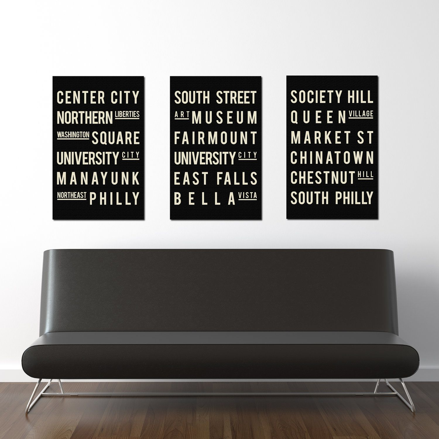 philadelphia subway art typography print city poster modern