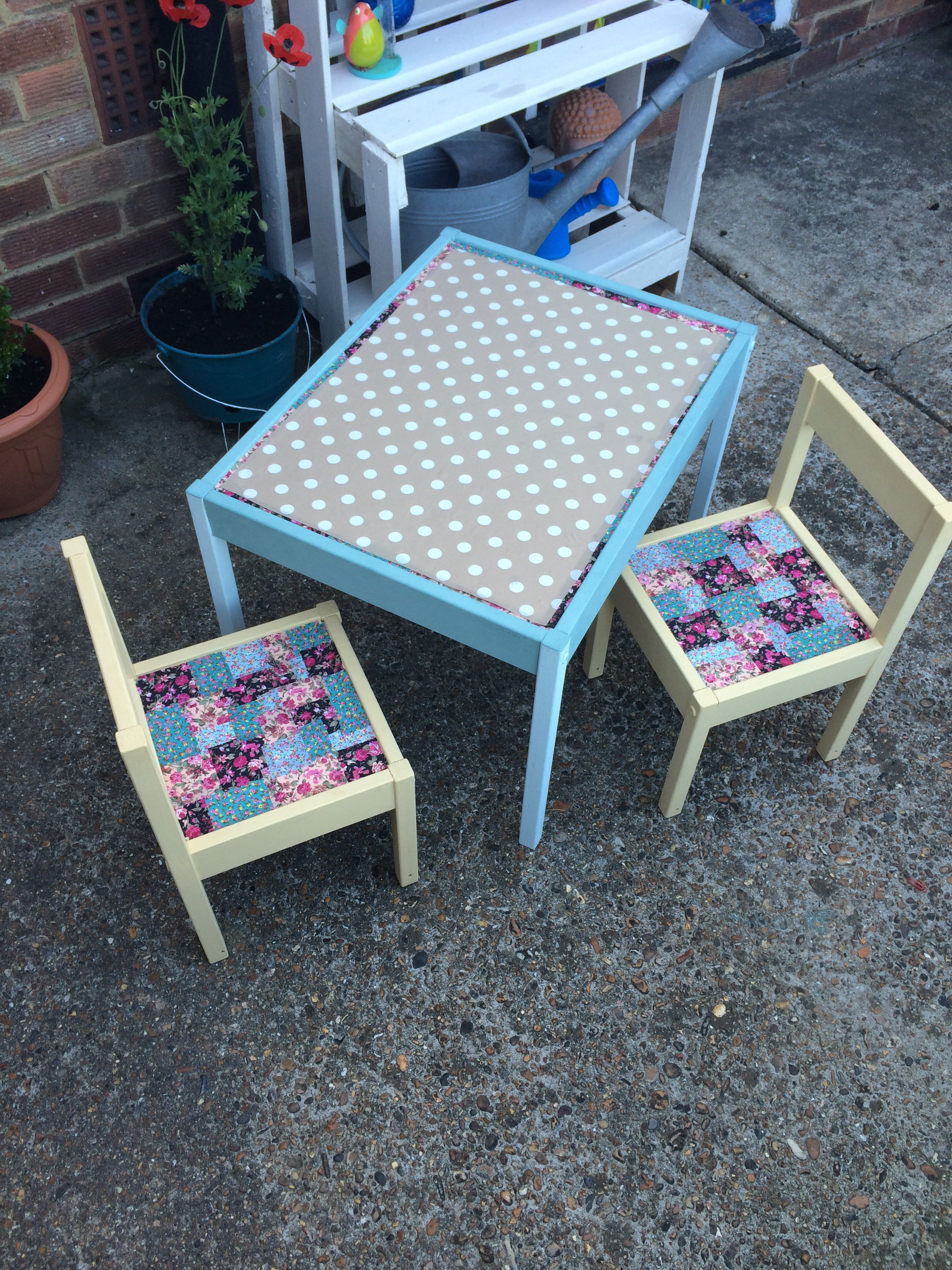 childrens outdoor furniture ikea on ikea latt kids table and chair hack using oil cloth and sticky back fabric all in a sunny af outdoor furniture sets kids table and chairs upcycled furniture ikea latt kids table and chair hack