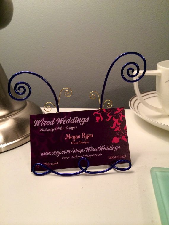 Whimsical business card holder by wiredweddings on etsy 2000 whimsical business card holder by wiredweddings on etsy 2000 colourmoves