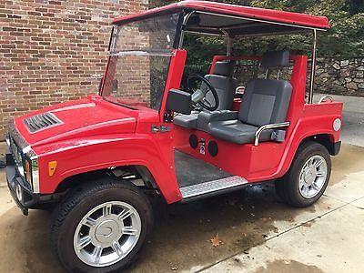 2011 Hummer H3 Golf Cart Red Golf Carts For Sale Pinterest
