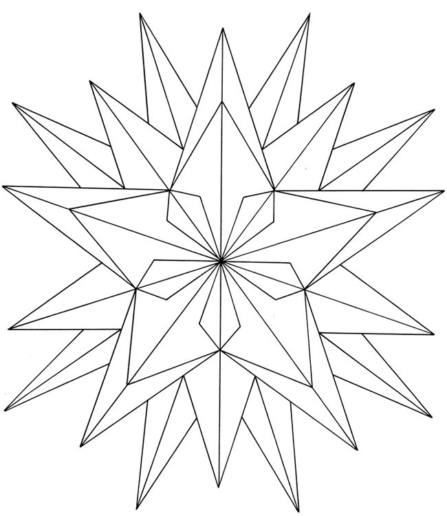 Free ColoringPainting Page Geometric Star  Paintings Star and Free