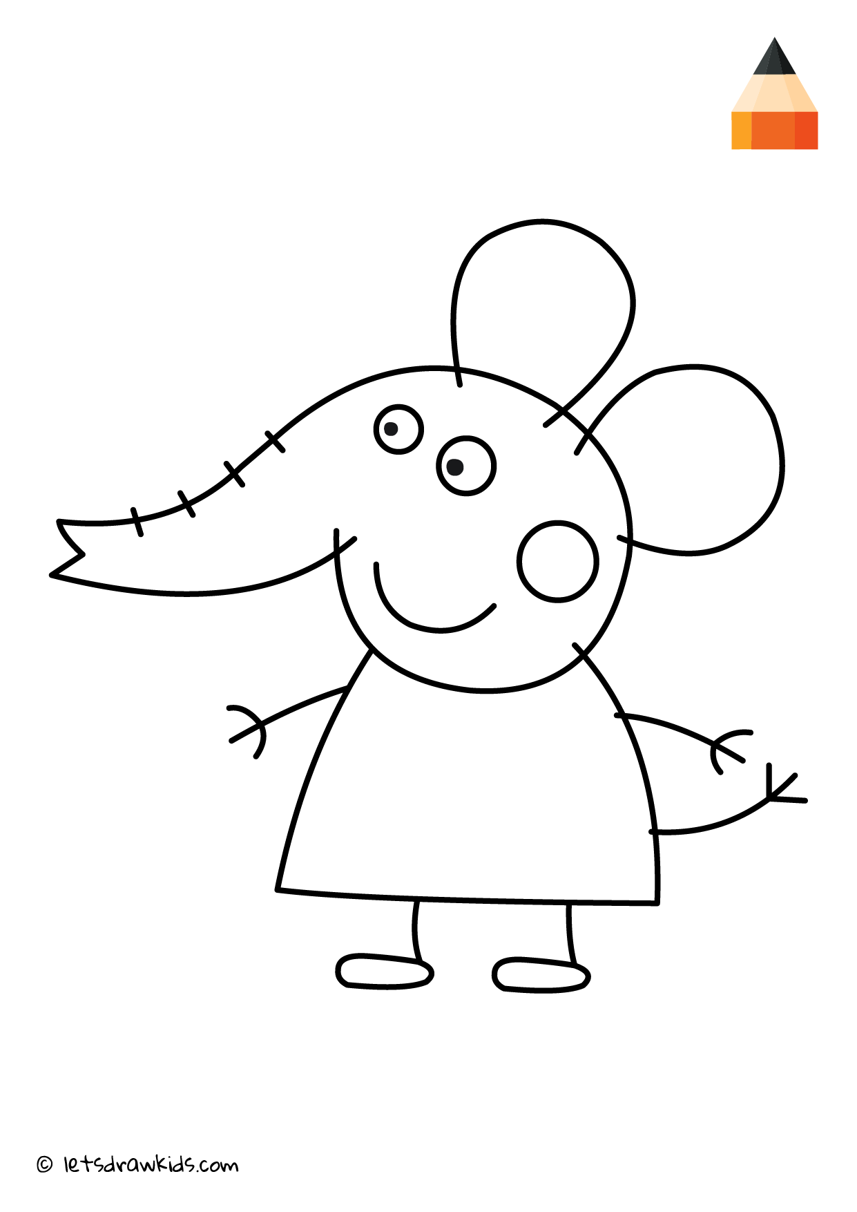 Coloring Page Peppa Pig Emily Elephant Peppa Pig Drawing Unicorn Coloring Pages Barbie Drawing
