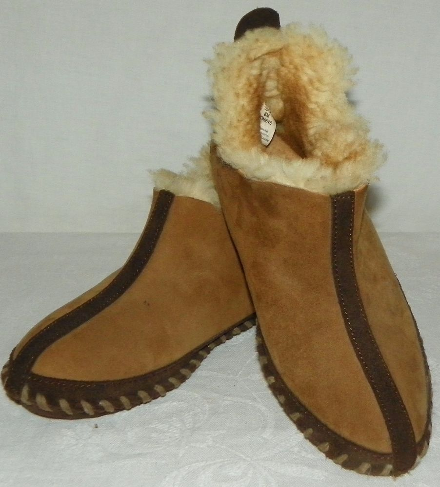 ac0e52892 Cabelas Womens Shearling Sheepskin Leather Slippers Moccasin Insulated Size  6 M #Cabelas #SlipperShoesMocassins