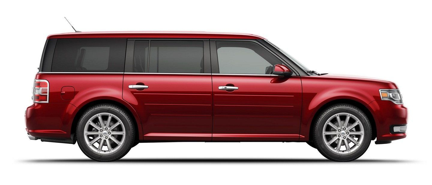 2019 Ford Flex In Ruby Red Side View Ford Flex Full Size Suv