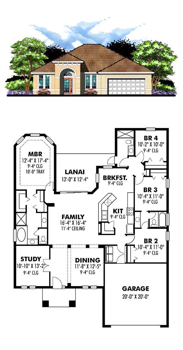 House Plan chp49033 Florida house plans, Custom home